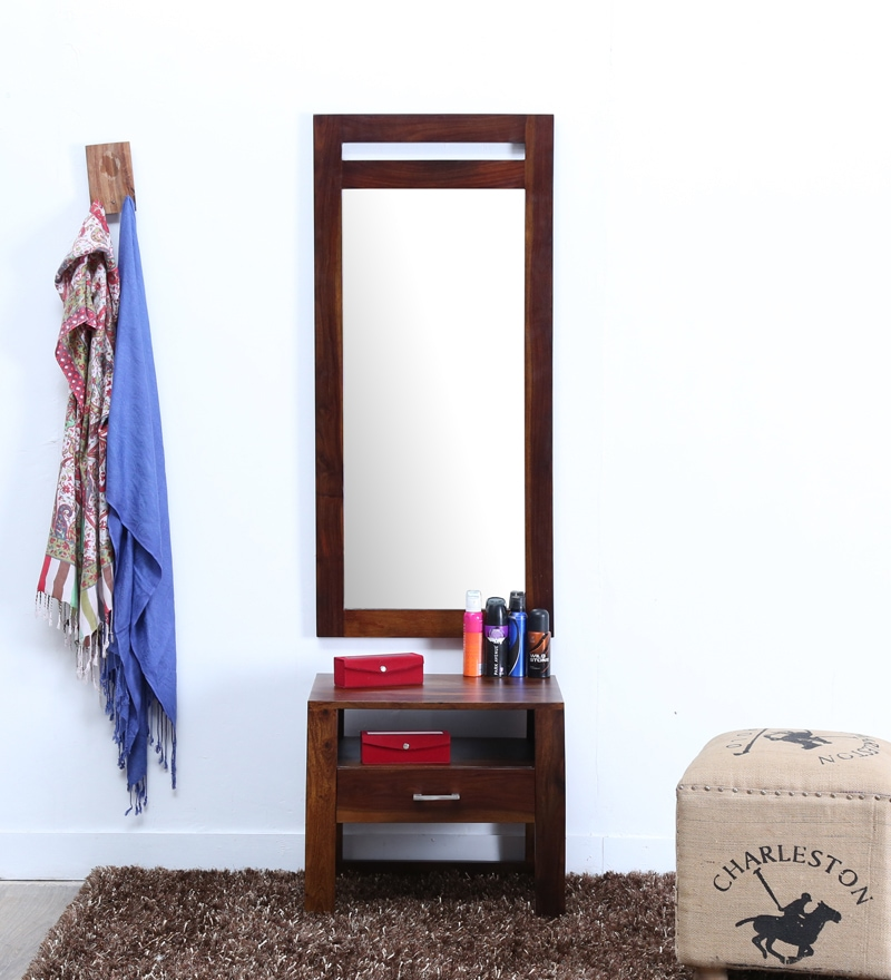 Buy Avian Solid Wood Dressing Table with Mirror in ...