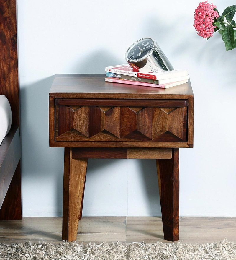 Avilys Bed Side Table in Provincial Teak Finish by Woodsworth