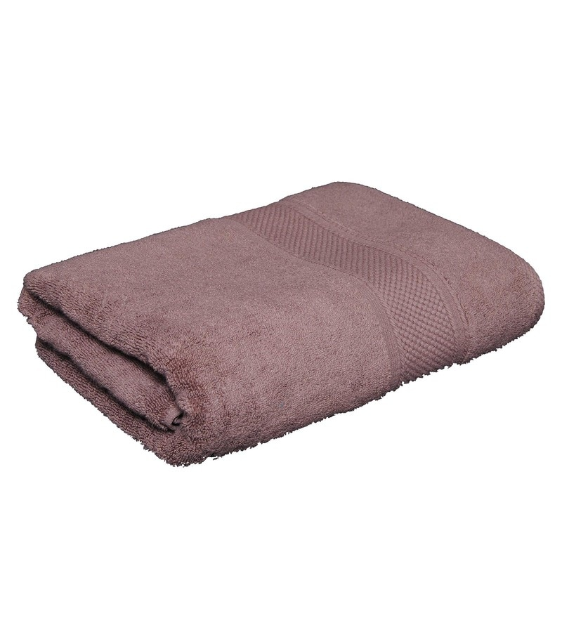 Light Brown Cotton 29.13 x 55.12 Inch Imperial Zero Twist Bath Towel by Avira Home