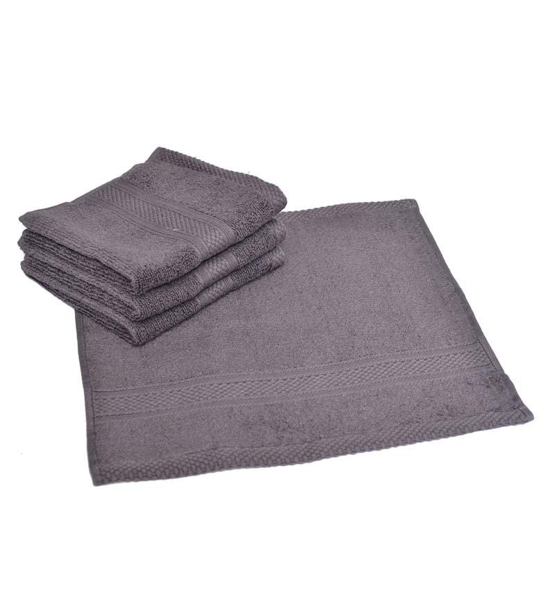 Avira Dark Grey Home Imperial Cotton Face Towel - Set of 4
