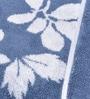 Avira Home Blue & White Cotton Floral 3 Piece Towel Set