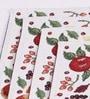 Avira Home White Cotton Fruit Celebration Table Mat - Set of 4