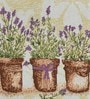 Avira Home Lavender Flower Pots Multicolour Cotton & Polyester Table Runner with Placemats - Set of 7