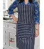 Avira Home Navy Blue Cotton Aprons - Set of 2