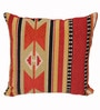 Avira Home Red Poly Cotton 18 x 18 Inch Home Ikat Cushion Cover