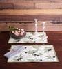 Avira Home Green Cotton Grape Field Table Mat - Set of 2