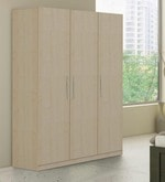 Axis Three Door Wardrobe in Asian Maple Finish