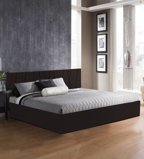 Axis King Size Bed With Storage In Matte Finish By Auious Home