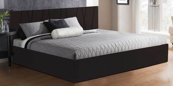 buy axis king size bed with storage in matte finish by auspicious home online king sized beds. Black Bedroom Furniture Sets. Home Design Ideas