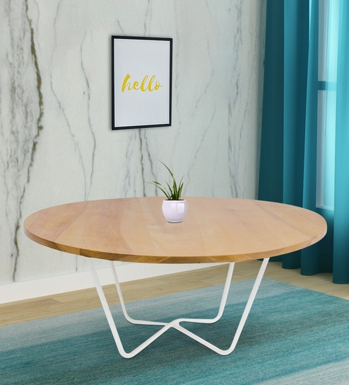 Ayla 2 Seater Dining Table In Ice Beech Colour By Lakdi