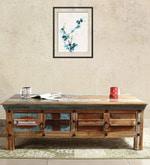 Azealia Solid Wood Coffee Table in Distress Finish