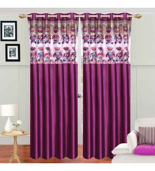 Curtains Ideas 48 Inch Curtains : Buy Azaani Multicolour Polyester 84 X 48  Inch Traditional Eyelet