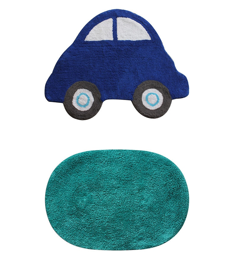 Azaani Teal 2-piece Bathmat Set