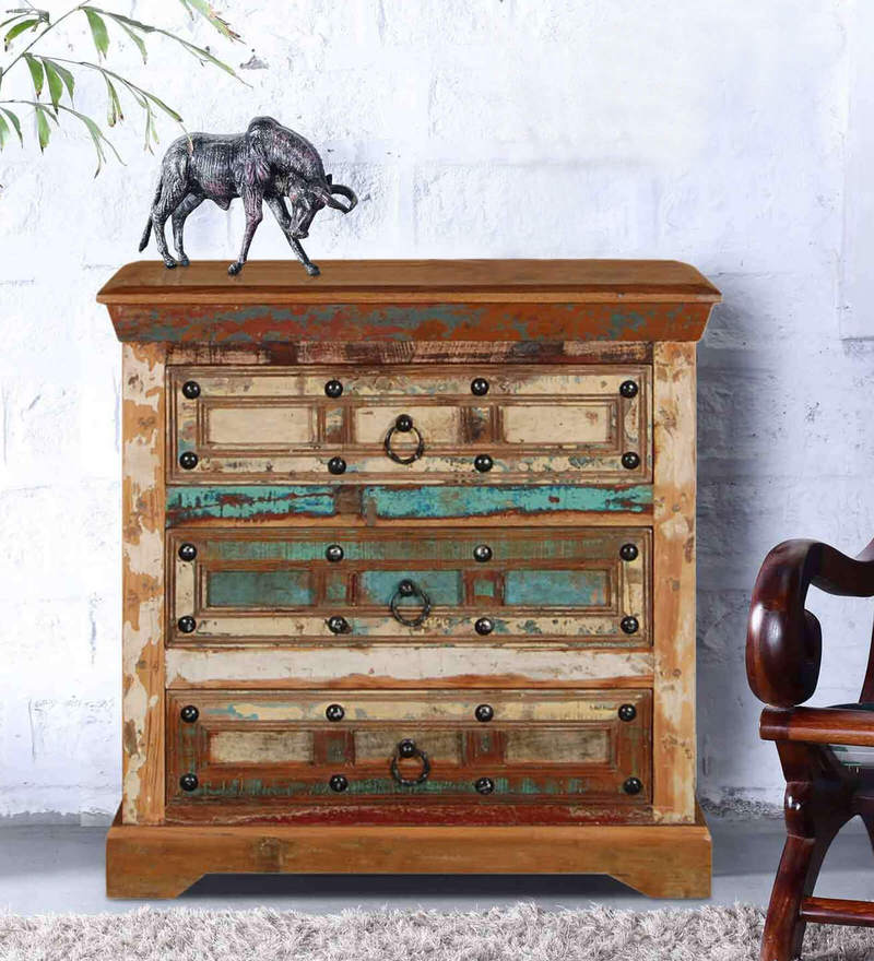 Azealia Chest of Drawers in Distress Finish by Bohemiana
