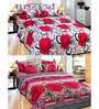 Azaani Multicolor Cotton Floral Double Bed Sheet Combo (with Pillow Covers)