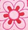 Azaani Floral Pink & Dark Brown 2-piece Bathmat Set