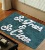 Teal Fresh & Clean Bathmat by Azaani