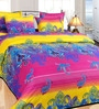 Ombre Paisley Multicolor Cotton Floral Double Bed Sheet (with Pillow Covers) by Azaani