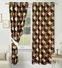 Loxton Set of 2 Door Curtain in Brown by Amberville