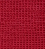 Red Cotton 36 x 24 Inch Honeycomb Rug by Azaani