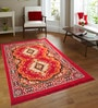 Azaani Red Jute 84 x 60 Inch Traditional Design Carpet