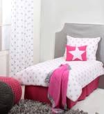 Star Pink Ikat Muslin 4 Piece Toddler Bedding Set