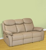 Barbados Three Seater Recliner Chair in Beige Colour