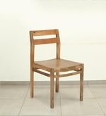 Barcelona Solid Wood Dining Chair in Natural Finish