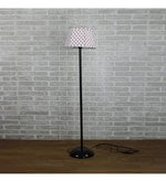 Red & White Cotton Floor Lamp