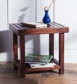 Barnes End Table in Honey Oak Finish