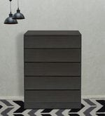 Basic Chest Of Five Drawers in Wenge Colour
