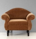 Bayley Single Seater Sofa in Espresso Walnut Finish