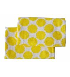 Bacati Multicolour Muslin 52 X 28 Inch Ikat Crib Baby Bedding Set - Set Of 2