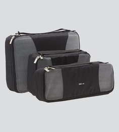 Bags R Us Polyester Black Packing Cubes - Set Of 3,7.7 Litres
