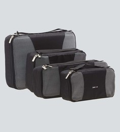 Bags R Us Polyester Black Packing Cubes - Set Of 4,7.7 Litres