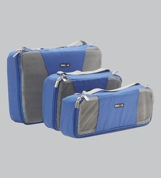 Bags R Us Polyester Blue Packing Cubes - Set Of 3,7.7 Litres - 1680647