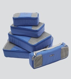 Bags R Us Polyester Blue Packing Cubes - Set Of 5,13 Litres - 1680651