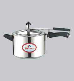 Bajaj Pcx35 Majesty Aluminium Pressure Cooker With Inner Lid,5000 ML