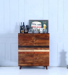 Monet Bar Cabinet In Dual Tone Finish