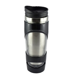 Bar World Metallic & Black Stainless Steel & Plastic 500 ML Vacuum Flask