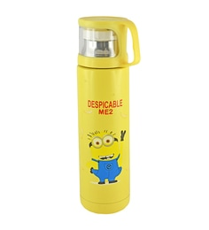 Bar World Minion Yellow Stainless Steel & Plastic 500 ML Vacuum Flask