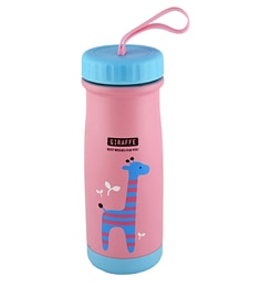 Bar World Pink & Blue Stainless Steel & Plastic 320 ML Vacuum Flask