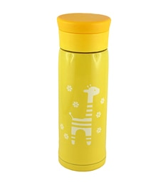 Bar World Yellow Stainless Steel & Plastic 350 ML Vacuum Flask