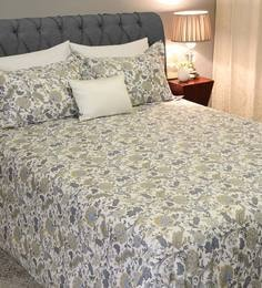 Barbara Floral Pattern 210 TC 100% Cotton Queen Size Bedsheet With 2 Pillow  Covers ...
