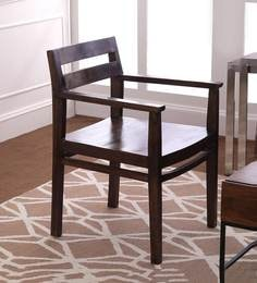 Barcelona Solid Wood Arm Chair In Provincial Teak Finish