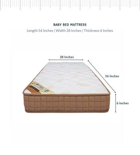 on sale c8f5a f09e2 Baby (55x28) 6 Inch Spring Mattress with Free Baby Pillow by Eclipse  International