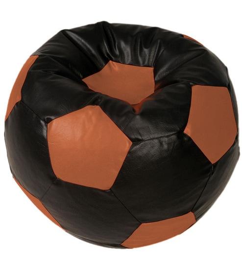 Fantastic Baby Lounge Bean Bag Cover In Black N Brown Colour By Arra Dailytribune Chair Design For Home Dailytribuneorg