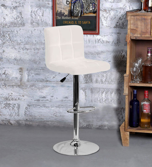 Fabulous Bar Stool In White Colour By Exclusive Furniture Unemploymentrelief Wooden Chair Designs For Living Room Unemploymentrelieforg