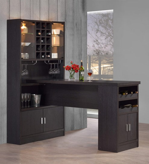 Buy Bar Unit Cum Cabinet In Espresso Finish By Marco