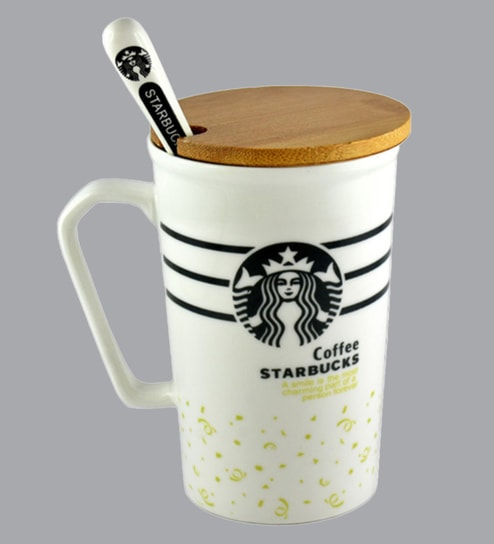 400 Yellow Whiteamp; World Ml Mug Ceramic Bar Starbucks 0wmnN8